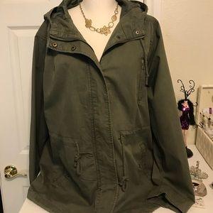 Forever 21 ladies olive green utility jacket